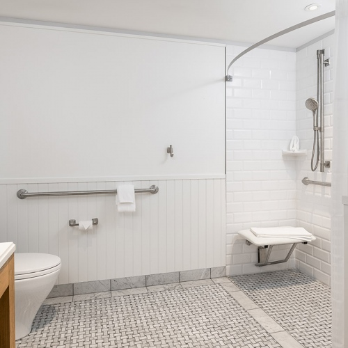 King Junior Suite Guest Room - ADA with Roll In Shower