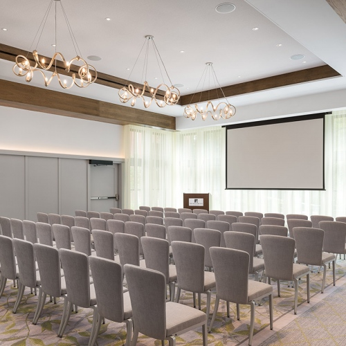 Auditorium Seating for Event with A/V Screen
