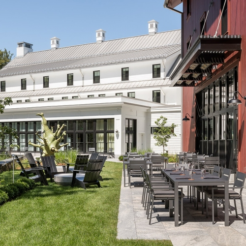 Outdoor Seating and Communal Space at The Barn