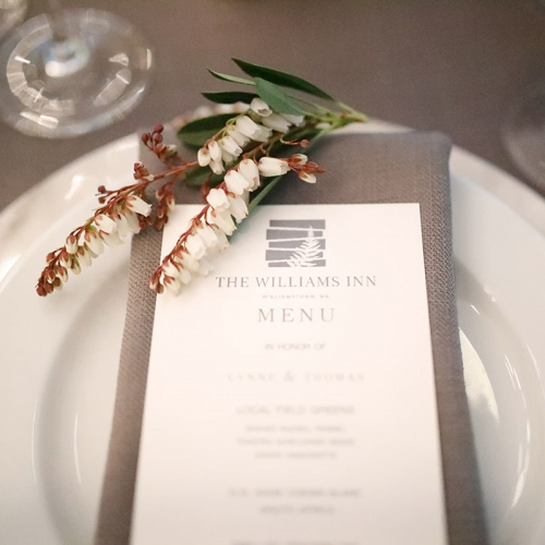 Williams Inn Wedding Menu